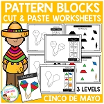 Pattern Block Cut & Paste Worksheets: Cinco De Mayo ~Digital Download~