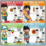 Pattern Block Puzzles: Food Bundle ~Digital Download~