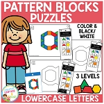 Pattern Block Puzzles: Lowercase Letters ~Digital Download~