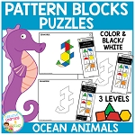 Pattern Block Puzzles: Animals - Ocean ~Digital Download~