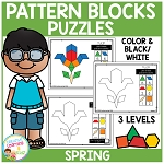 Pattern Block Puzzles: Spring ~Digital Download~
