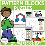 Pattern Block Puzzles: St. Patrick's Day ~Digital Download~