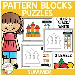 Pattern Block Puzzles: Summer ~Digital Download~