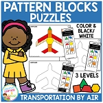 Pattern Block Puzzles: Transportation - Air ~Digital Download~