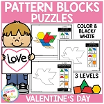 Pattern Block Puzzles: Valentine's Day ~Digital Download~