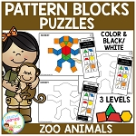Pattern Block Puzzles: Animals - Zoo ~Digital Download~
