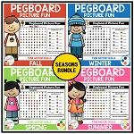 Pegboard Picture Fun: Seasons Bundle ~Digital Download~