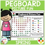 Pegboard Picture Fun: Spring ~Digital Download~