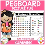 Pegboard Picture Fun: Summer ~Digital Download~