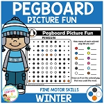 Pegboard Picture Fun: Winter ~Digital Download~