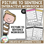 Picture to Sentence Interactive Workbook 10 ~Digital Download~