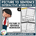 Picture to Sentence Interactive Workbook 8 ~Digital Download~