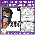 Picture to Sentence Interactive Workbook 9 ~Digital Download~
