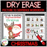Dry Erase Picture to Sentence Workbook: Christmas ~Digital Download~