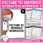Picture to Sentence Interactive Workbook 6 ~Digital Download~