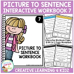 Picture to Sentence Interactive Workbook 7 ~Digital Download~