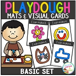 Playdough Mats & Visual Cards: Basic Set ~Digital Download~
