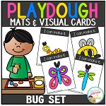 Playdough Mats & Visual Cards: Bug Set ~Digital Download~