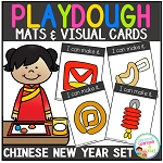 Playdough Mats & Visual Cards: Chinese New Year Set ~Digital Download~