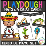 Playdough Mats & Visual Cards: Cinco De Mayo Set ~Digital Download~