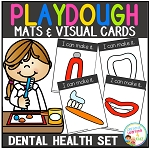 Playdough Mats & Visual Cards: Dental Health Set ~Digital Download~