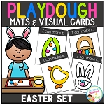 Playdough Mats & Visual Cards: Easter Set ~Digital Download~