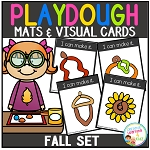 Playdough Mats & Visual Cards: Fall Set ~Digital Download~