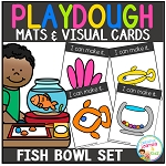 Playdough Mats & Visual Cards: Fish Bowl Set ~Digital Download~