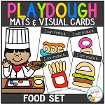 Playdough Mats & Visual Cards: Food Set ~Digital Download~