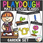 Playdough Mats & Visual Cards: Garden Set ~Digital Download~