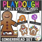 Playdough Mats & Visual Cards: Gingerbread Set ~Digital Download~