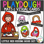 Playdough Mats & Visual Cards: Fairy Tale - Little Red Riding Hood ~Digital Download~