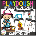 Playdough Mats & Visual Cards: Camping ~Digital Download~