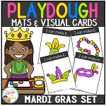Playdough Mats & Visual Cards: Mardi Gras ~Digital Download~