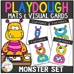 Playdough Mats & Visual Cards: Monster ~Digital Download~
