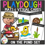 Playdough Mats & Visual Cards: On the Pond ~Digital Download~