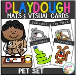 Playdough Mats & Visual Cards: Pet Set ~Digital Download~