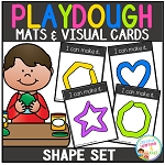 Playdough Mats & Visual Cards: Shape Set ~Digital Download~