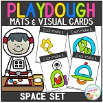 Playdough Mats & Visual Cards: Space Set ~Digital Download~