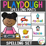 Playdough Mats Spelling Set ~Digital Download~