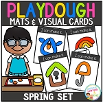 Playdough Mats & Visual Cards: Spring Set ~Digital Download~