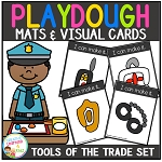 Playdough Mats & Visual Cards: Tools of the Trade - Community Helper Items ~Digital Download~