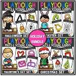 Playdough Mats & Visual Cards: Holiday Bundle ~Digital Download~