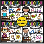 Playdough Mats & Visual Cards: Seasons Bundle ~Digital Download~