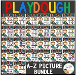 Playdough Mats & Visual Cards: Alphabet Pictures Bundle ~Digital Download~