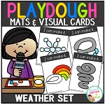 Playdough Mats & Visual Cards: Weather Set ~Digital Download~
