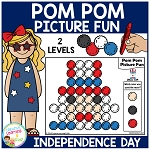 Pom Pom Picture Fun - Independence Day ~Digital Download~