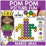 Pom Pom Picture Fun - Mardi Gras ~Digital Download~