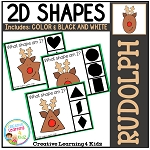 Shape Clip Cards: Rudolph ~Digital Download~