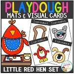 Playdough Mats & Visual Cards: Fairy Tale - Little Red Hen ~Digital Download~